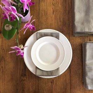 Set of 12 Gray Cotton Napkins